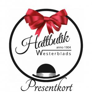 Hattbutik Westerblads logga med rosett - presentkort